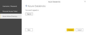 Choix de connexion avec Azure Active Directory