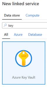 Linked services de type Azure Key Vault
