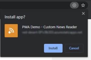 Installation PWA PC Chrome