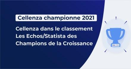 Cellenza dans le classement Les Echos/Statista des Champions de la Croissance 2021