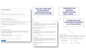 Configuration application Microsoft Azure AD