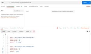 présentation token API