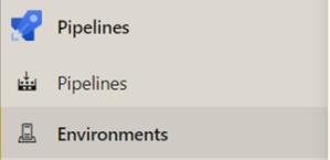 web test environnement pipeline