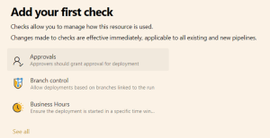 Yaml add your first check