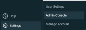 Admin console Databricks