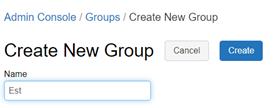 création group Databricks console